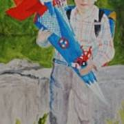 Pascals First Day At School 2004 Art Print