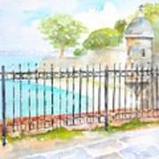 Paseo De La Princesa Puerto Rico Art Print