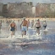 Paseo Por La Playa Del Sardinero Art Print