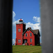 Passageway To The Two Harbors Lighthouse Art Print