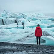 Passing Icebergs  Art Print