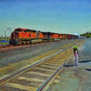 Passing Train Art Print