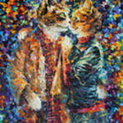 Passion Of The Cats  Art Print