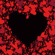 Passionate Love Heart Art Print