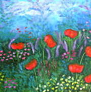 Passionate Poppies Art Print by Alanna Hug-McAnnally
