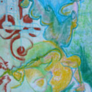 Pastel 18 Art Print