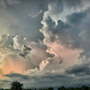 Pastel Clouds Art Print