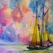 Pastel Sail Art Print
