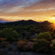 Pastel Sonoran Skies  Art Print