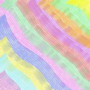 Pastel Stripes Angled Art Print
