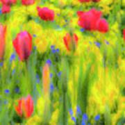 Pastel Summer Flowers  Art Print