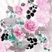 Pastel Water-healing Roses -24 Art Print