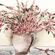 Pastels In Clay Pot Art Print