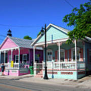 Pastels Of Key West Art Print