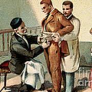 Pasteur Inoculating Man With Rabies Art Print