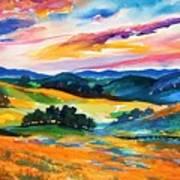 Pastoral Poppies On Yokohl Valley Art Print