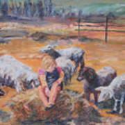 Pasture Acquaintances Art Print