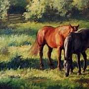 Pasture At Whites Crossing      Horse Painting Art Print