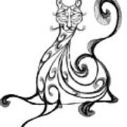 Pat Cat Art Print