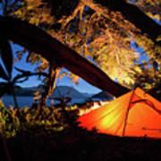 Patagonia Landscape Camping Art Print