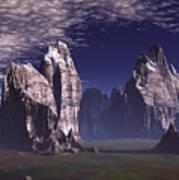 Patagonian Mountain  Art Print