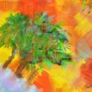 Patchwork Beach Town Art Print