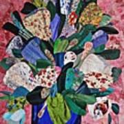 Patchwork Bouquet Art Print