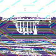 Patchwork White House Art Print