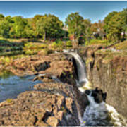 Paterson Water Falls Black And White Art Print