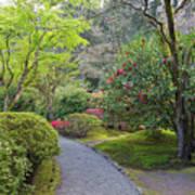 Path At Japanese Garden Art Print