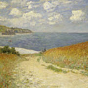 Path In The Wheat At Pourville Print by Claude Monet