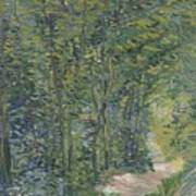 Path In The Woods Paris, May 1887 - July 1887 Vincent Van Gogh 1853  1890 Art Print