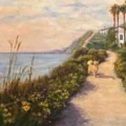 Path To Bacara , With Golden  Art Print