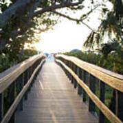 Path To Marco Island Beach Art Print