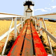 Path To The Lighthouse Art Print