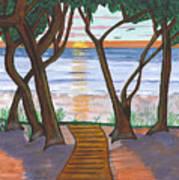 Path To The Ocean Art Print