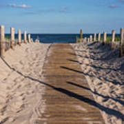 Pathway To Beach Seaside New Jersey Art Print