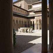 Patio De Los Leones Nasrid Palaces Alhambra Granada Art Print