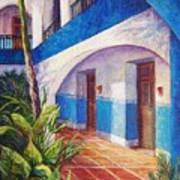 Patio In Merida Art Print