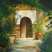 Patio Mallorquin Art Print
