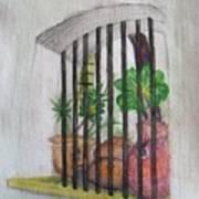 Patio Window - Gifted Art Print