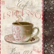 Patisserie Cafe Espresso Art Print