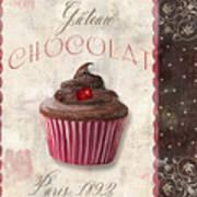 Patisserie Chocolate Cupcake Art Print