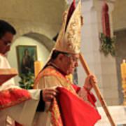 Patriarch Fouad Twal At Christmas Mass Art Print