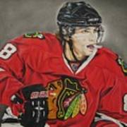 Patrick Kane Art Print by Brian Schuster