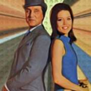 Patrick Macnee And Diana Rigg, The Avengers Art Print