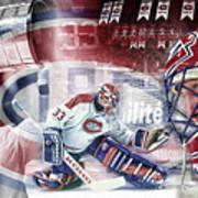 Patrick Roy Montreal Canadiens Art Print