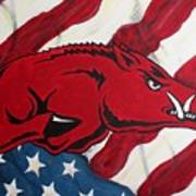 Patriot Hog Art Print