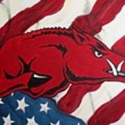 Patriot Hog Art Print by Nathan Grisham