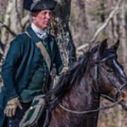 Patriot On Horse At Tower Park Battle Art Print